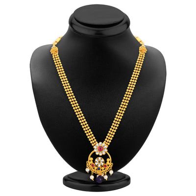 Sukkhi Fancy Gold Plated Necklace Set For Women-2