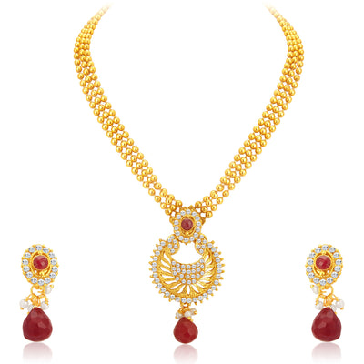 Sukkhi Creative Gold Plated Necklace Set For Women-1