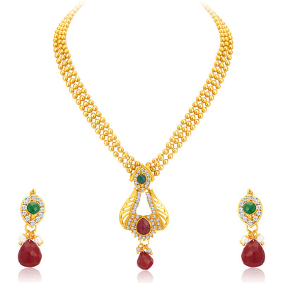 Sukkhi Delightly Gold Plated Necklace Set For Women-1