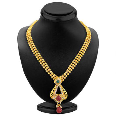 Sukkhi Delightly Gold Plated Necklace Set For Women-2