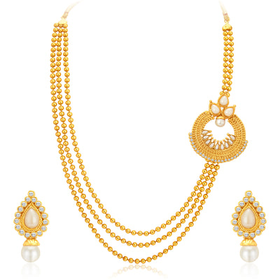 Sukkhi Luxurious Gold Plated Necklace Set For Women-1