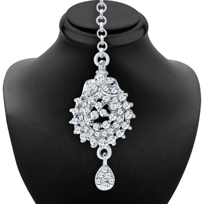 Sukkhi Trendy Rhodium Plated AD Necklace Set For Women-6