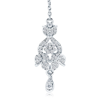 Sukkhi Charming Rhodium Plated AD Necklace Set For Women-7