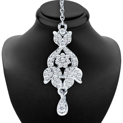 Sukkhi Charming Rhodium Plated AD Necklace Set For Women-6