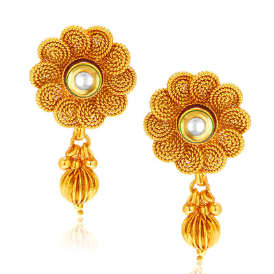 Sukkhi Eye-Catchy Jalebi Design Gold Plated Necklace Set For Women-5