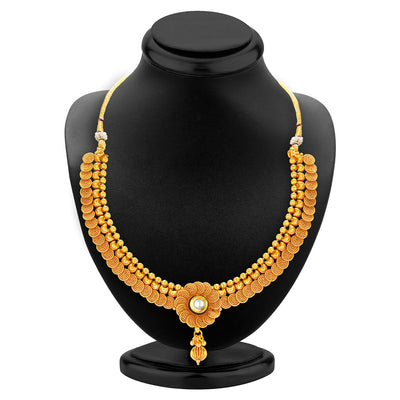Sukkhi Eye-Catchy Jalebi Design Gold Plated Necklace Set For Women-2