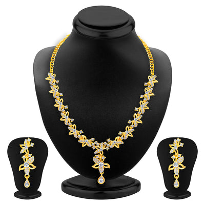 Sukkhi Alluring Gold Plated AD Set of 3 Necklace Set Combo For Women-2