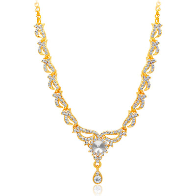Sukkhi Fancy Gold Plated AD Necklace Set For Women-3