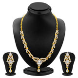 Sukkhi Alluring Gold Plated AD Set of 3 Necklace Set Combo For Women-4