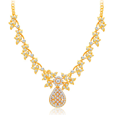 Sukkhi Alluring Gold Plated AD Necklace Set For Women-3