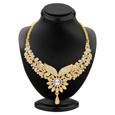 Sukkhi Fabulous Gold Plated AD Necklace Set For Women-2