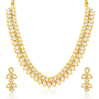 Sukkhi Youthful Gold Plated Kundan Necklace Set For Women-1
