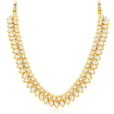 Sukkhi Youthful Gold Plated Kundan Necklace Set For Women-3