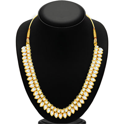 Sukkhi Youthful Gold Plated Kundan Necklace Set For Women-2