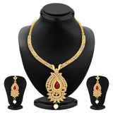 Sukkhi Magnificent Necklace Set Detachable to Pendant Set with Chain and Set of 5 Changeable Stone For Women-2