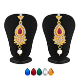 Sukkhi Magnificent Necklace Set Detachable to Pendant Set with Chain and Set of 5 Changeable Stone For Women-10