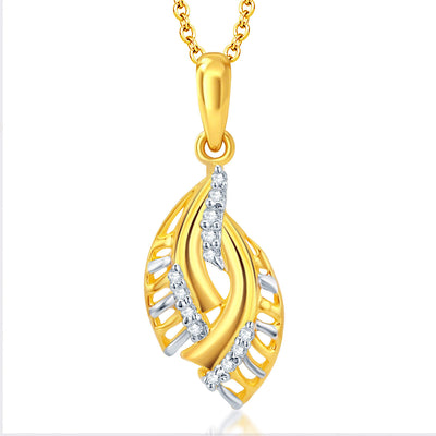 Pissara Delightly Gold and Rhodium Plated CZ Pendant Set-1