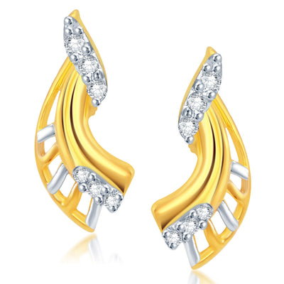 Pissara Delightly Gold and Rhodium Plated CZ Pendant Set-2