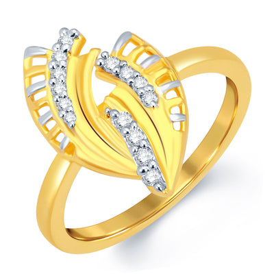 Sukkhi Delightly Gold and Rhodium Plated CZ Ring