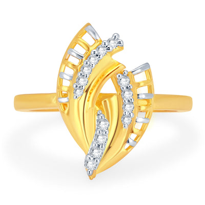 Sukkhi Delightly Gold and Rhodium Plated CZ Ring-1