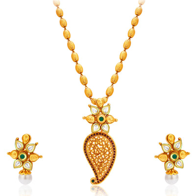 Sukkhi Stylish Gold Plated Kundan Necklace Set For Women-1