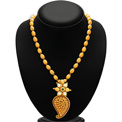 Sukkhi Stylish Gold Plated Kundan Necklace Set For Women-2