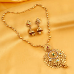 0054 Sukkhi Astonish Gold Plated Kundan Necklace Set For Women
