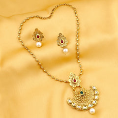 0030 Sukkhi Marvellous Gold Plated Kundan Necklace Set For Women