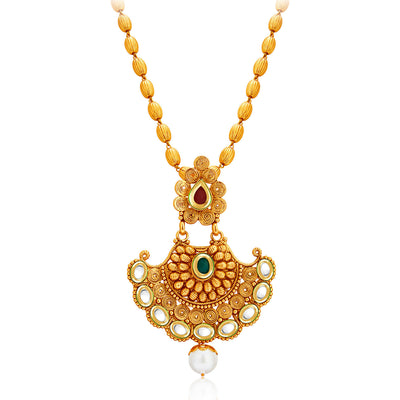 Sukkhi Marvellous Gold Plated Kundan Necklace Set For Women-3