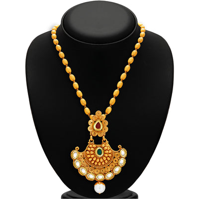 Sukkhi Marvellous Gold Plated Kundan Necklace Set For Women-2