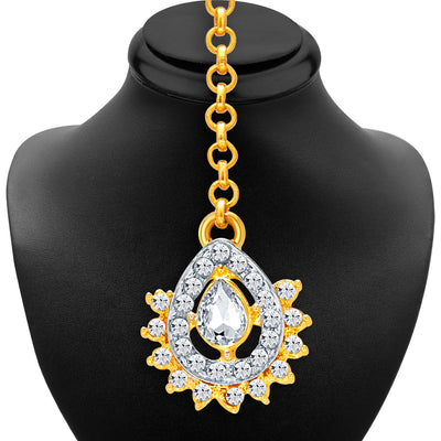 Sukkhi Exotic Gold & Rhodium Plated AD Necklace Set For Women-6