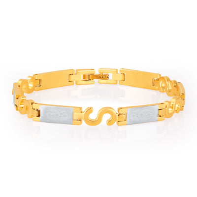 Sukkhi Exquitely Gold and Rhodium Plated Bracelet For Men