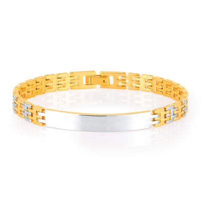 Sukkhi Fabulous Gold and Rhodium Plated Bracelet For Men
