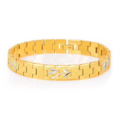 Sukkhi Classic Gold and Rhodium Plated Bracelet For Men