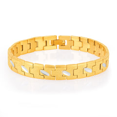 Sukkhi Creative Gold and Rhodium Plated Bracelet For Men