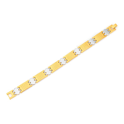 Sukkhi Gracefull Gold and Rhodium Plated Bracelet For Men-1