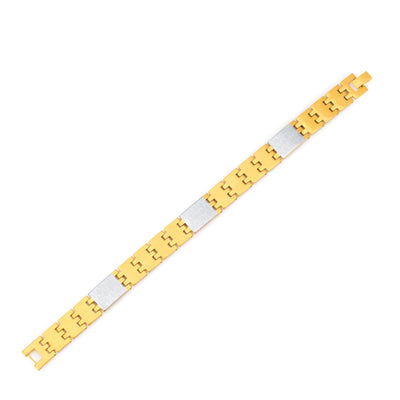 Sukkhi Sleek Gold and Rhodium Plated Bracelet For Men-1