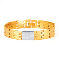 Sukkhi Sleek Gold and Rhodium Plated Bracelet For Men