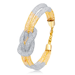 Sukkhi Shimmering Gold Plated AD Bracelet For Women