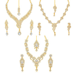 Sukkhi Pleasing 3 Pieces Necklace Set Combo