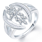 Sukkhi Fashionable Rhodium Plated CZ Ring