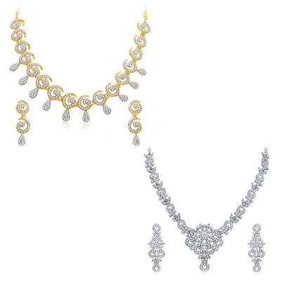 Sukkhi Marvellous 2 Pieces Necklace Set Combo-3