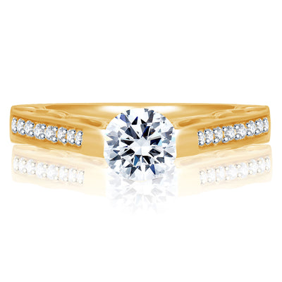 Sukkhi Marvellous Gold and Rhodium Plated Cubic Zirconia Stone Studded Solitaire Ring-1