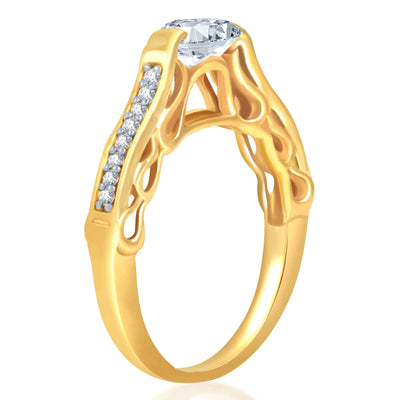 Sukkhi Marvellous Gold and Rhodium Plated Cubic Zirconia Stone Studded Solitaire Ring-2