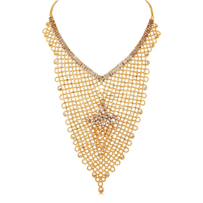 Sukkhi Creative Gold Plated AD Necklace Set For Women-3