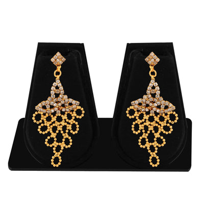 Sukkhi Creative Gold Plated AD Necklace Set For Women-6