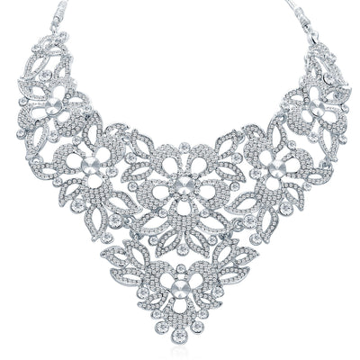 Sukkhi Elegant Rhodium Plated AD Necklace Set For Women-1
