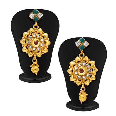 Sukkhi Charming Gold Plated AD Necklace Set For Women-4