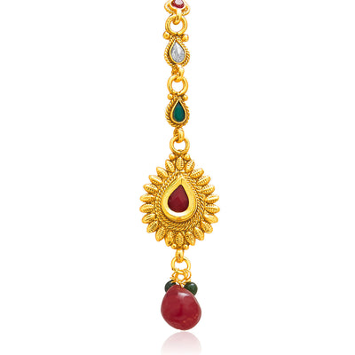 Sukkhi Glorious Gold Plated AD Necklace Set For Women-7