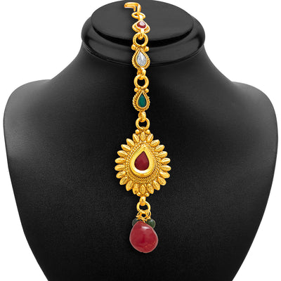 Sukkhi Glorious Gold Plated AD Necklace Set For Women-6